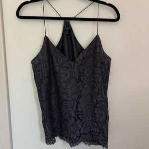 J. Crew Black All Over Lace Cami